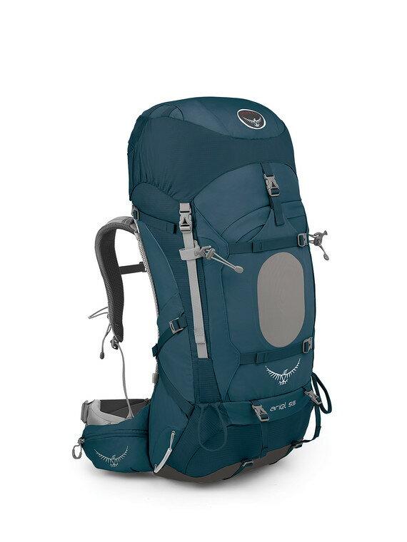 【露營趣】中和 附頭燈手電筒 美國 Osprey Ariel 55公升 女款登山背包 重裝背包 自助旅遊背包