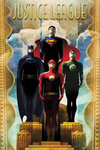 GB Eye XPE160217 Justice League Team Art Deco Poster Print, 24 x 36 07b57f92d39e1b0e7cf666e07b97c76c