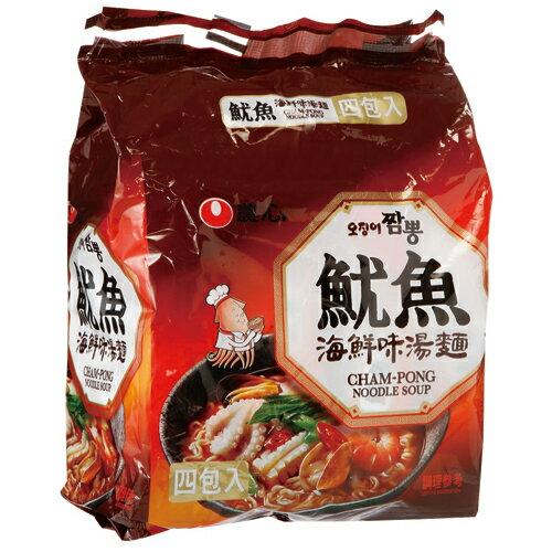 農心魷魚海鮮味湯麵496g【愛買】