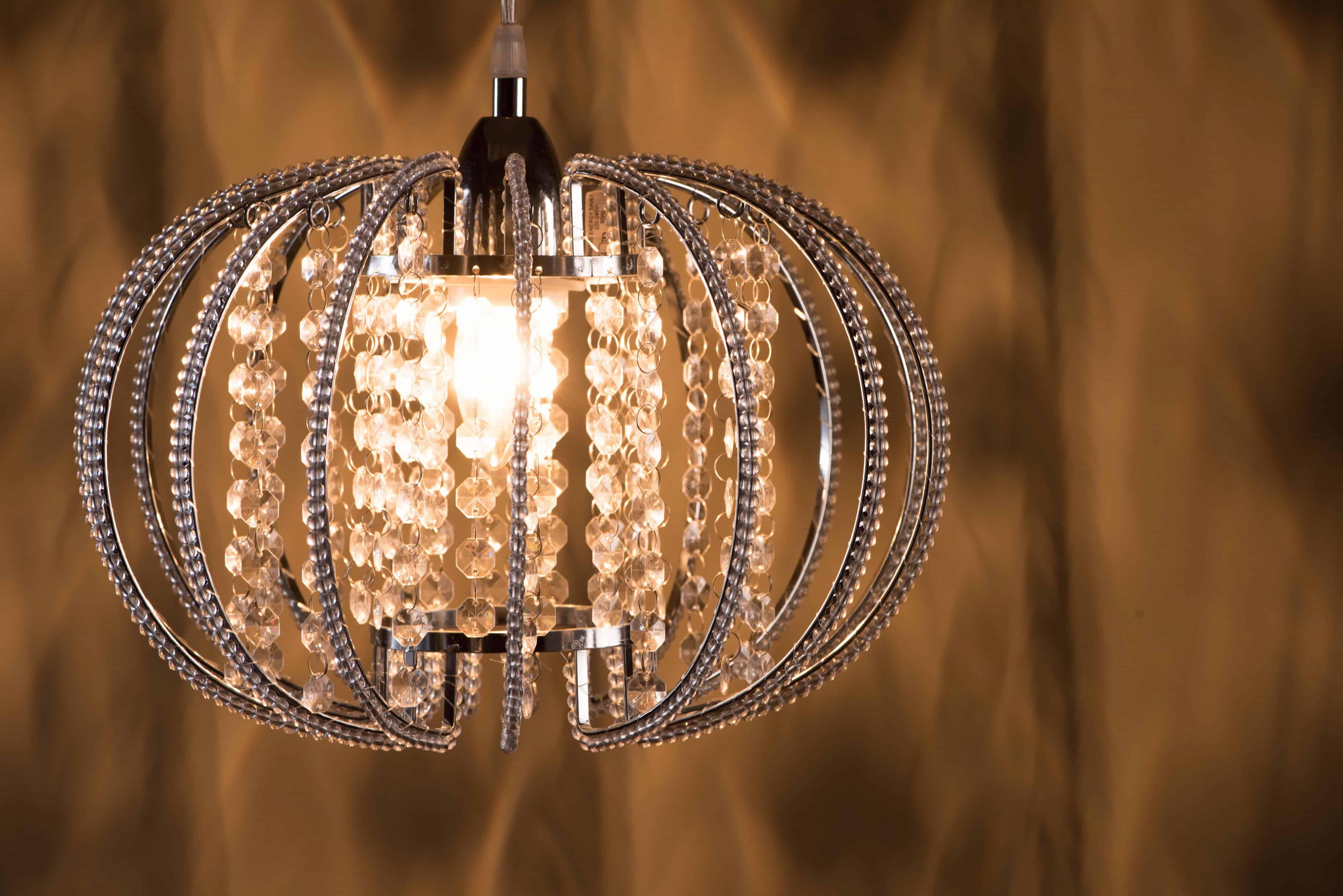 鍍鉻圓形透明壓克力珠吊燈-BNL00046 3