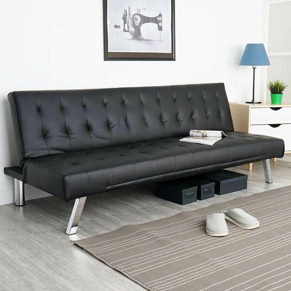 沙發床皮沙發雙人沙發《Yostyle》傑森時尚皮質沙發床-尊爵黑