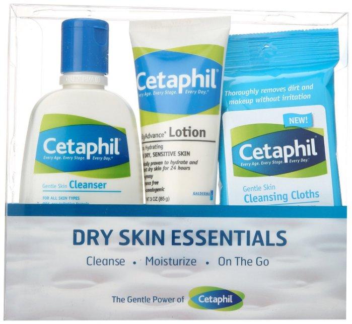 【彤彤小舖】Cetaphil 乾性肌膚套組 ERC5 強護保濕精華乳/溫和潔膚乳 / 濕紙巾 三件式 美國進口
