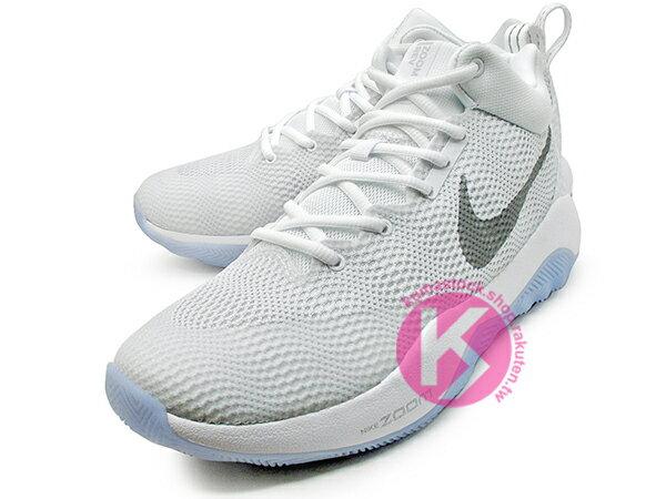 2016 中價位籃球鞋款 NIKE ZOOM REV EP 全白 白銀 HYPERFUSE 鞋面科技 + ZOOM AIR 氣墊 XDR 耐磨橡膠外底 輕量化 籃球鞋 (852423-100) 0117 1