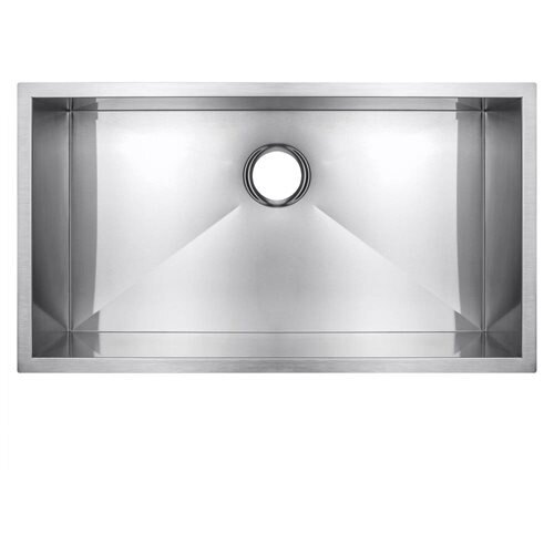 "Golden Vantage 30"" 16 Gauge Stainless Steel Undermount Single Bowl Kitchen Sink 0"
