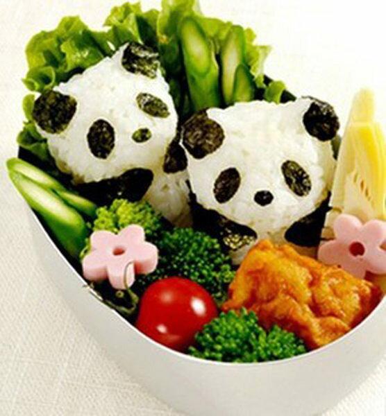 PS Mall╭*熊貓仔仔飯團模 可愛熊貓寶寶飯糰壓模 模具組【J1747】