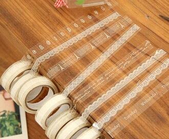 PS Mall╭*韓國 小清新DIY必備 透明蕾絲花邊膠帶 玻璃膠帶【J2207】