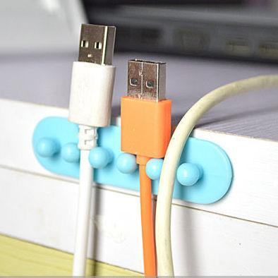 PS Mall 電腦 電線 充電線 桌面理線器 整線器 電線收集固線夾 五孔卡線夾【J299】