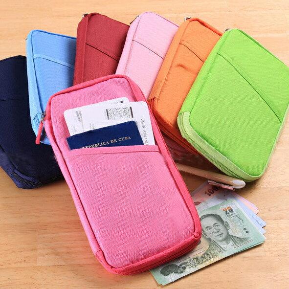 PS Mall 韓國旅行手拿包 背包客最愛 多功能隨身長護照夾/收納包/旅遊包【J147】