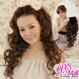 PS Mall 日韓自然系假髮 DIY半頂式半罩式華麗長捲髮假髮 可露額頭【P039】