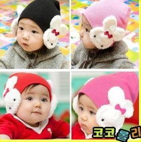 PS Mall 韓版小白兔造型帽子 護耳帽 嬰兒帽 雙兔帽子【B009】萬聖