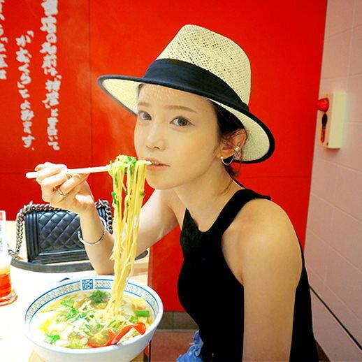 PS Mall 男女帽 春 草帽 螢光 遮陽帽 沙灘太陽帽 爵士帽 防曬帽子~G1702~