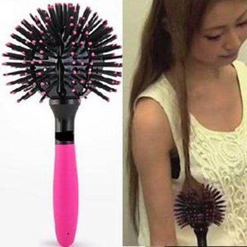 PS Mall 日本流行 3D球型空氣造型按摩梳 梳子 圓蓬鬆捲髮梳【H166】