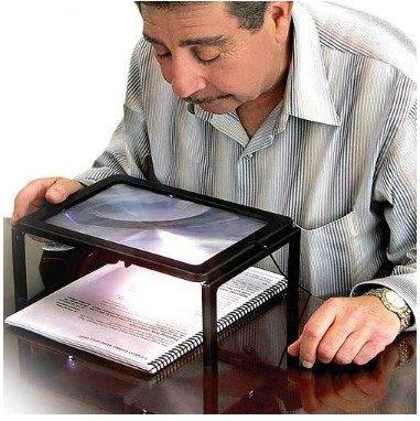 PS Mall╭*年長必備 放大鏡 LED讀書燈 關愛老老人健康 電池式可外帶外出用【J1488】
