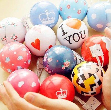 PS Mall 超人氣禮物球 馬口鐵幸福球小禮物 巧克力 禮品 情人節 婚禮小物 小卡片【J1606】