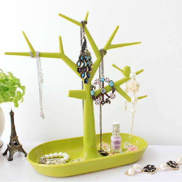 PS Mall  樹木 彩色 首飾收納架 戒指 耳環 展示架 鑰匙 飾品~J323~ ~