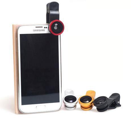PS Mall 手機特效鏡頭 廣角 超微距 180°魚眼 三星 萬能夾子型三合一手機濾鏡~