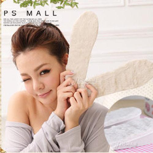 PS Mall 舒適隱形式保暖人造羊毛內男式女式 增高鞋墊 可裁減~S58~