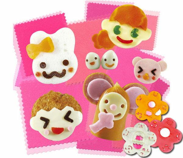 PS Mall╭*神奇DIY大變臉笑臉便當表情造型器日本飯團模具做壽司工具套【J2160】