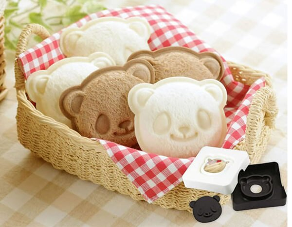 PS Mall 熊貓三明治製作器 微笑考麵包機吐司盒西點心口袋麵包模【J2275】