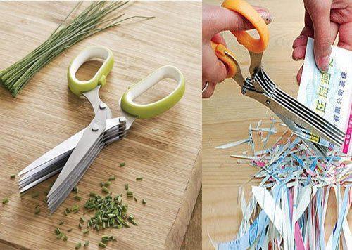 PS Mall╭~家用碎紙剪刀 多層剪刀 剪蔥刀~J496~ ~  好康折扣