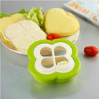 PS Mall╭*韓款式三明治模具 製作吐司模具 四葉草麵包模具 壽司材料【J2280】
