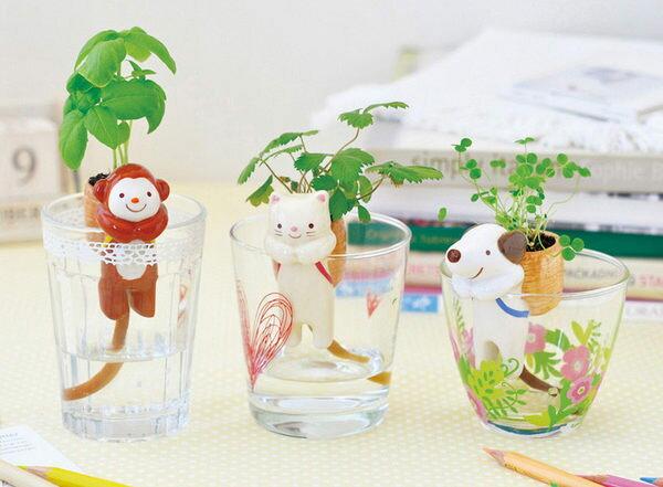 PS Mall 療癒熱賣!!可愛動物尾巴吸水造型盆栽 桌面迷你綠植物 小盆栽【J604】 1