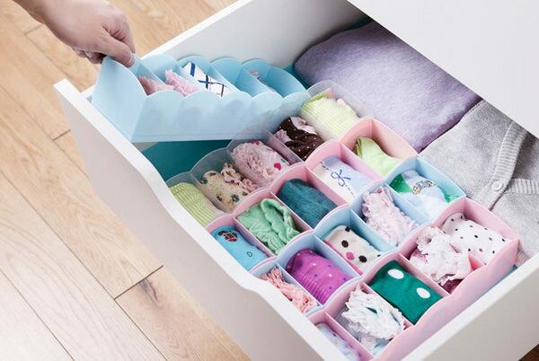 PS Mall 塑膠五格內衣收納盒 抽屜式整理盒 內褲襪子收納儲物盒【J829】衣物收納
