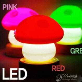 PS Mall╭* 小蘑菇造型拍拍燈 蘑菇型小夜燈 易拍燈 LED燈【J739】