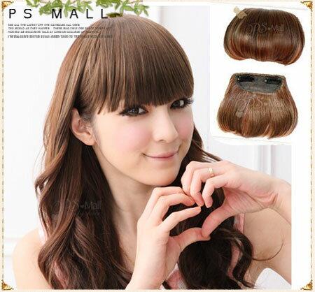 PS Mall 自然系齊瀏海 簡易輕鬆上手一片式假髮髮片 瀏海髮片~P010~