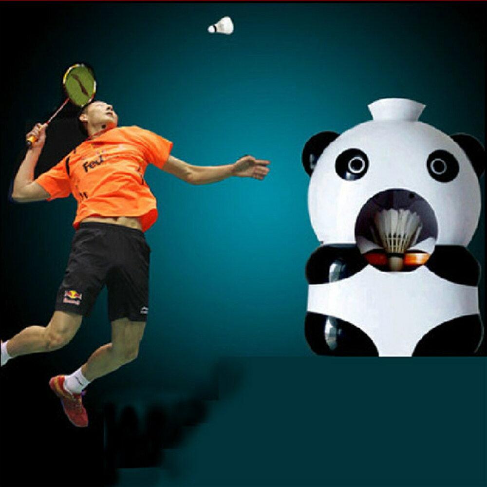 發球機 充電式便攜羽毛球發球機 自動發球陪練機 擺頭發球機步伐訓練器