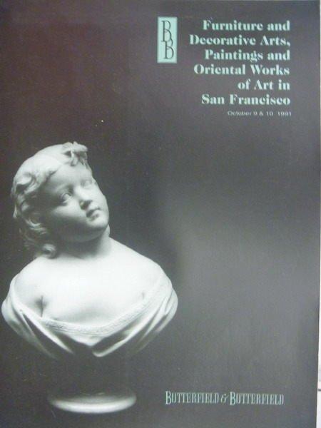 【書寶二手書T4/收藏_ZKO】BB_1991/10/8-9_Furniture, Decorative Arts..