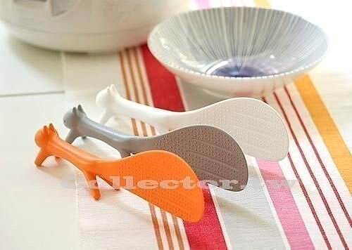 【N13110102】松鼠可立不粘鍋飯勺 創意可立不粘飯勺 廚房必備