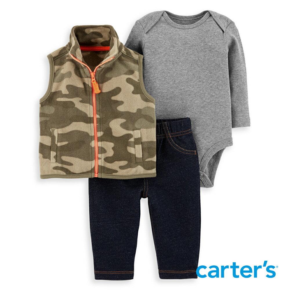 Carter's 個性迷彩3件組背心套裝 - 限時優惠好康折扣