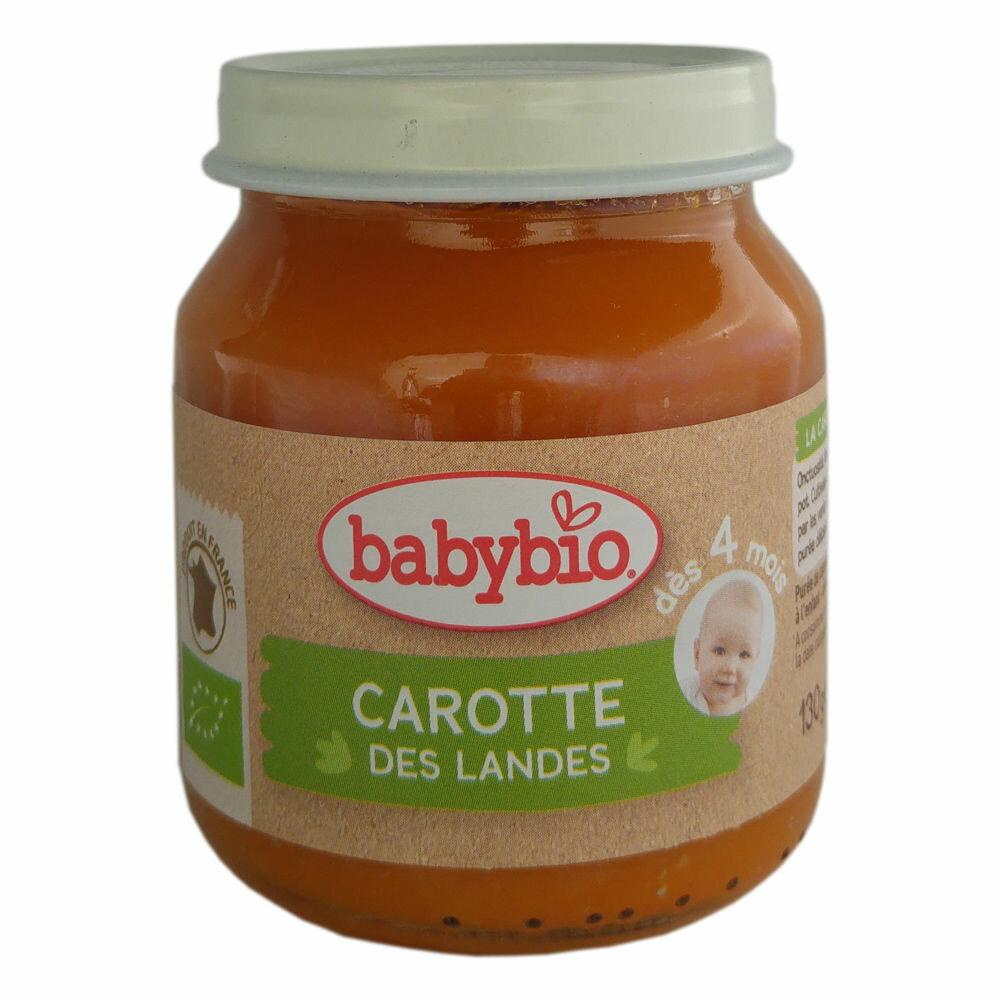 【安琪兒】法國【倍優babybio】有機紅蘿蔔蔬菜泥130g(4個月)
