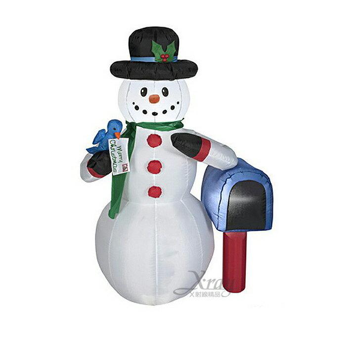 雪人郵筒,聖誕佈置/自動充氣擺飾/聖誕充氣/聖誕節/會場佈置,X射線【X007905】