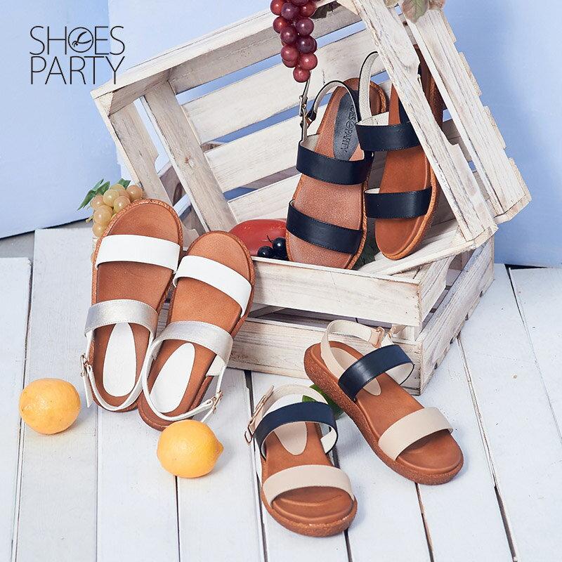 【S2-16509L】Simple+久走不累簡約輕便雙帶涼鞋_Shoes Party 0