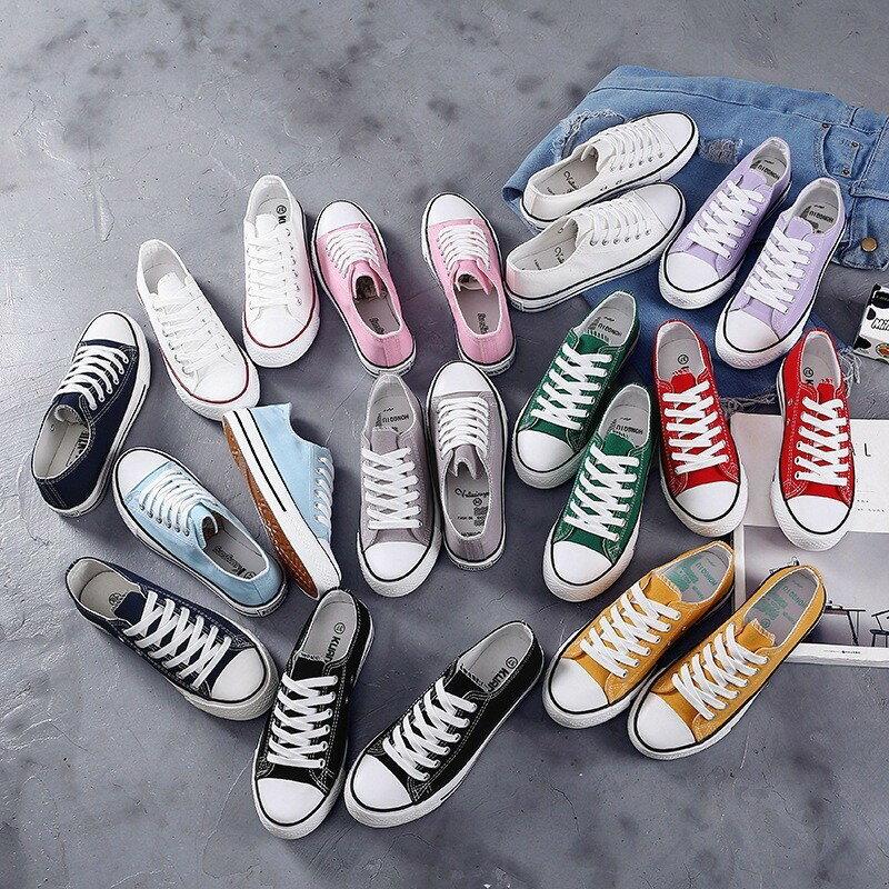 [糖果色帆布鞋]女帆布鞋 七色可選