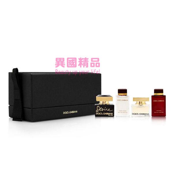 Dolce&GabbanaFragranceMini女用小香四件禮盒組5ml*24.5ml*2【特價】§異國精品§
