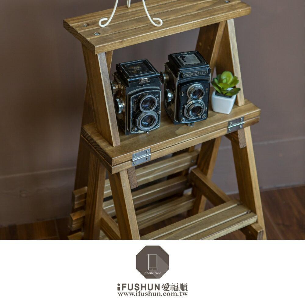 iFUSHUN 實木摺疊梯椅 木梯子