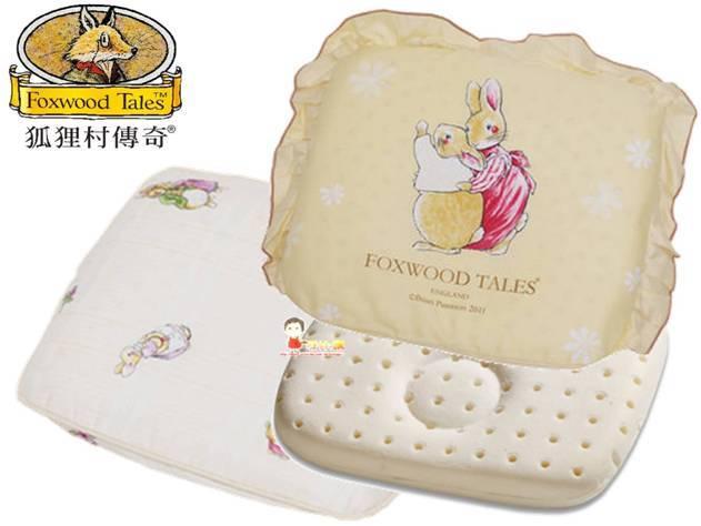 *babygo*狐狸村傳奇-矽膠嬰兒造型枕【咖】雙布套