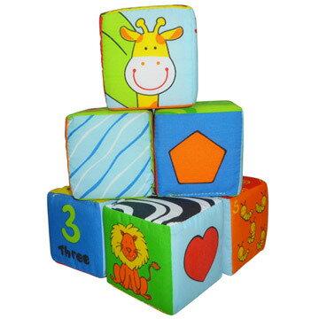 *babygo*風車圖書-寶寶可愛動物布骰