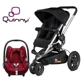 Quinny Buzz Xtra氣壓式運動休旅越野推車【黑色】+贈Maxi-Cosi頂級提籃(隨機色)