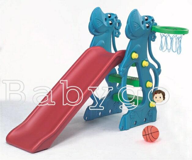 *babygo*親親河馬造型溜滑梯(環保二次料/藍色)