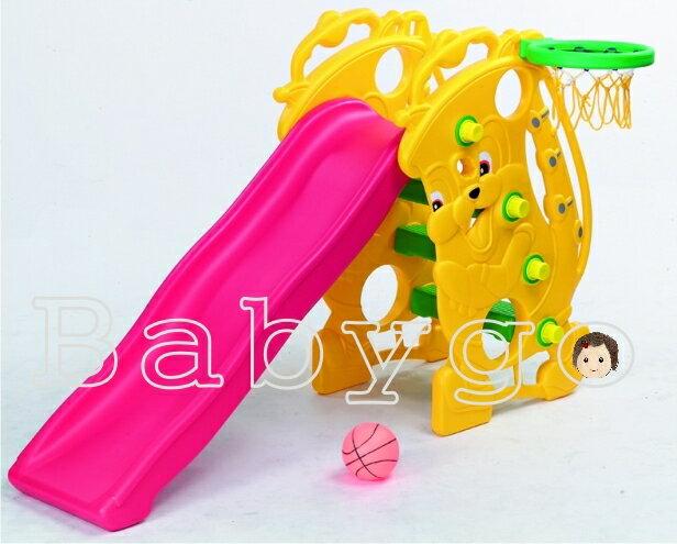 *babygo*親親-薩克斯風溜滑梯 / 附籃框及籃球【台灣製】