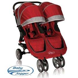 *babygo* Baby Jogger City Mini Double 時尚嬰兒雙人推車【紅】