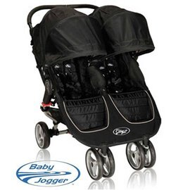 *babygo* Baby Jogger City Mini Double 時尚嬰兒雙人推車【黑】
