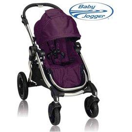 *babygo*美國BabyJoggerCitySelect四輪嬰兒推車-推車界的變形金剛【銀管紫】不含第二座椅