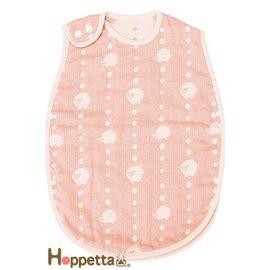 *babygo*日本Hoppetta六層紗可愛動物防踢被(新生兒~3歲)【粉】