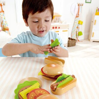 *babygo*德國Hape愛傑卡-下午茶系列主廚漢堡&熱狗
