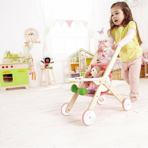 *babygo*德國Hape愛傑卡-嬰兒娃娃系列嬰兒推車
